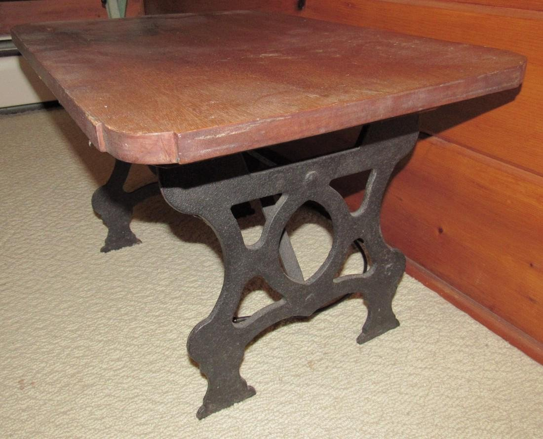 Table with Cast Iron Base - 2