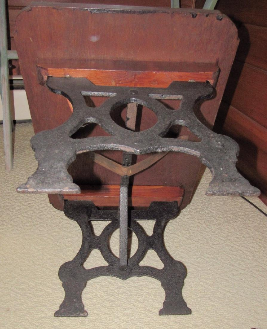 Table with Cast Iron Base - 4
