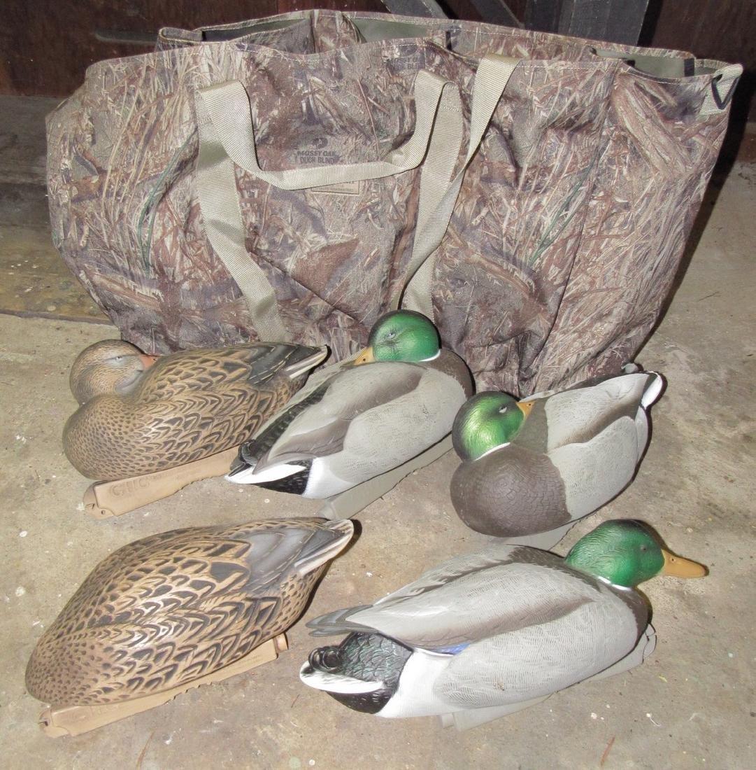 5 Green Head Gear Mallard Duck Hunting Decoys