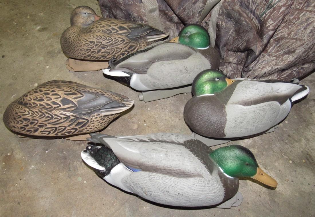 5 Green Head Gear Mallard Duck Hunting Decoys - 2