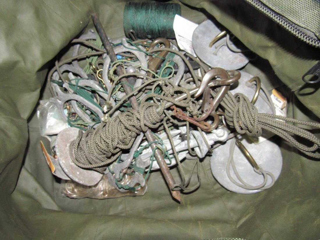 Bag Full of Hunting Decoy Weights Anchors & Misc - 2