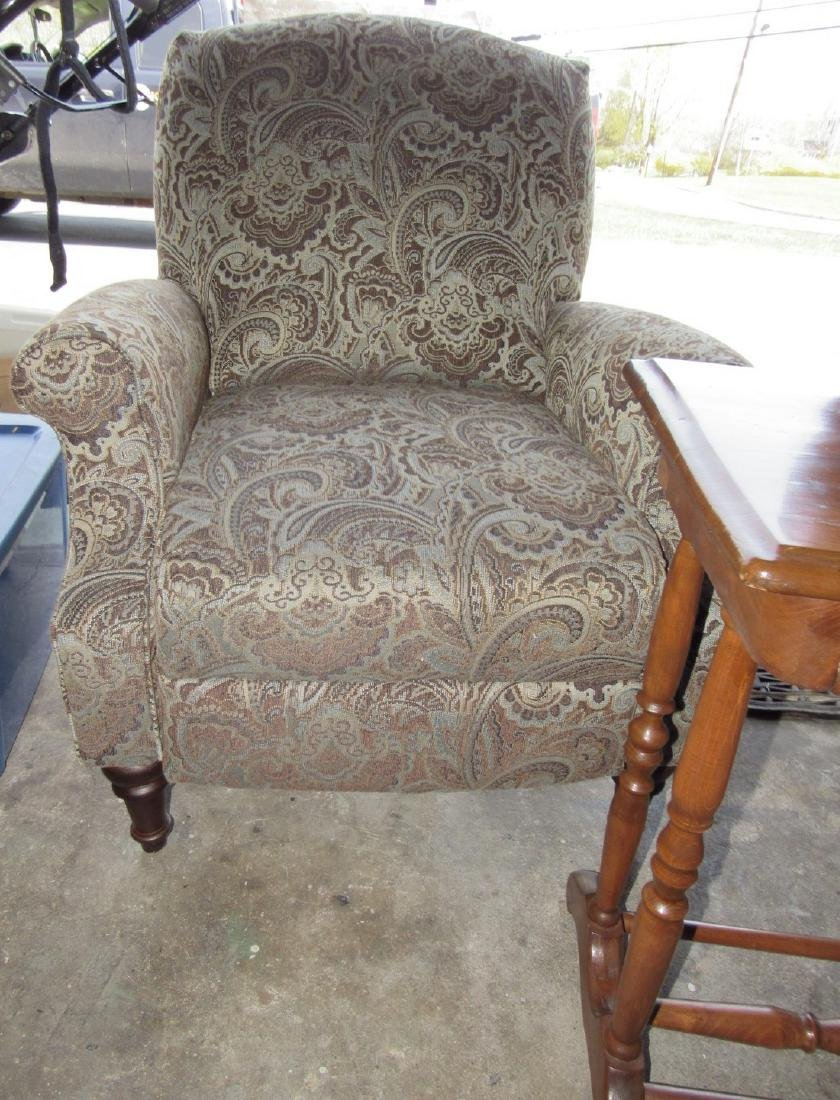 One Drawer Stand & Upholstered Arm Chair - 3