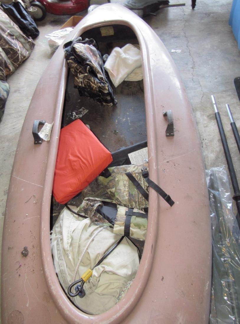 Duck Boat w/ Paddle Oars & Life Jackets - 3