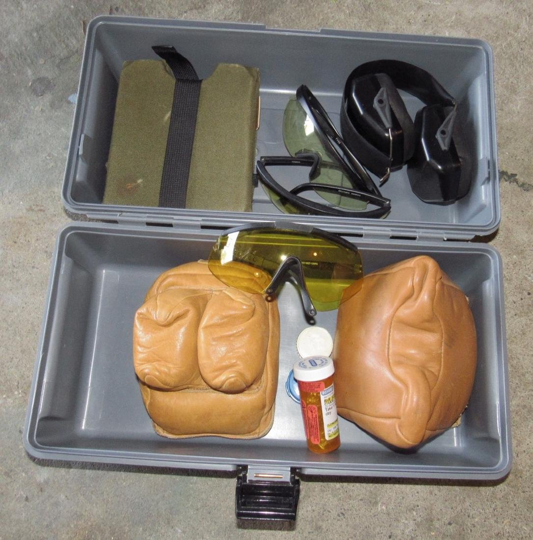 Target Shooting Bean Bag Rests Glasses & Ear Protection