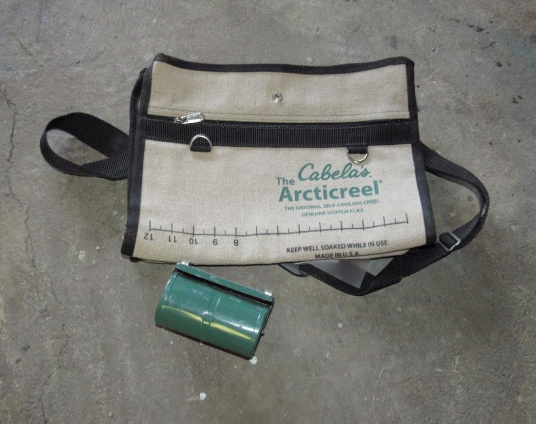 Cabelas Artic Creel & Worm Can