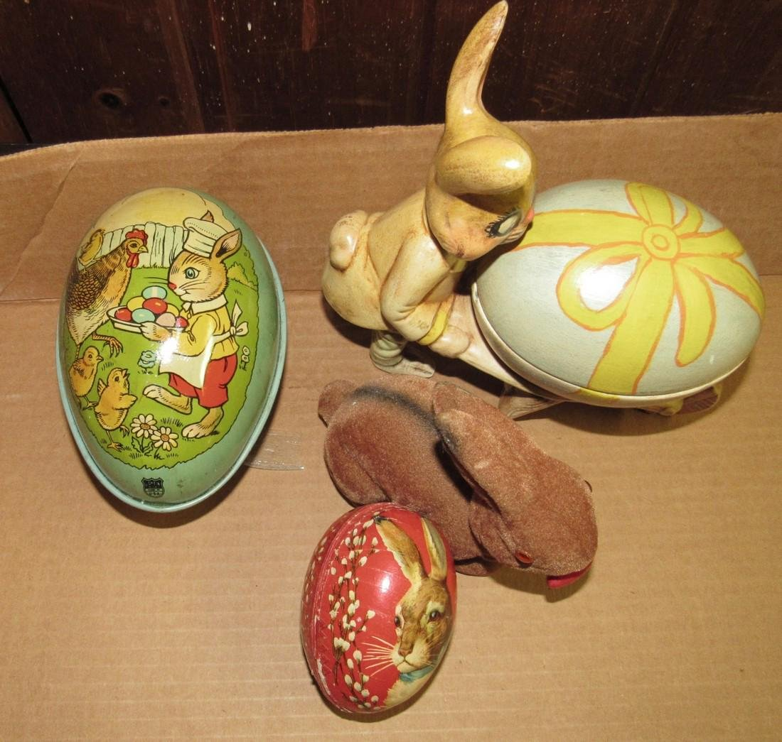Chein & Paper Mache Easter Eggs with  Misc - 2
