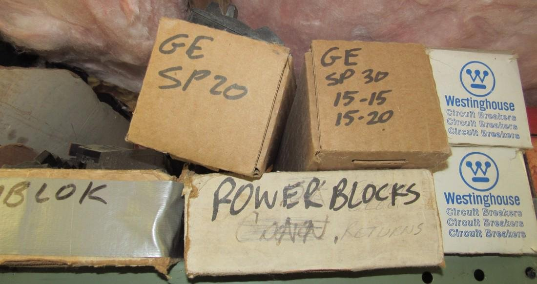 Shelf Lot of Circuit Breakers - 2