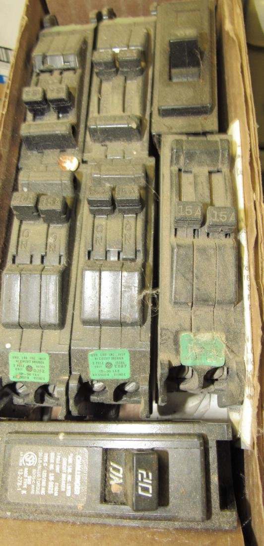 Shelf Lot of Circuit Breakers - 9