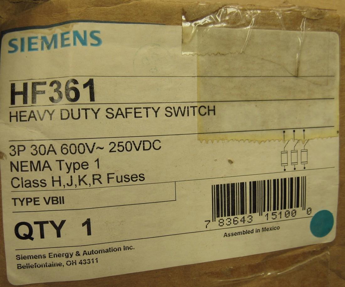 Siemens 30A Heavy Duty Safety Switch - 2