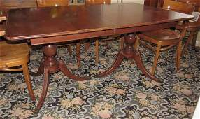 Duncan Phyfe Style Dining Room Table