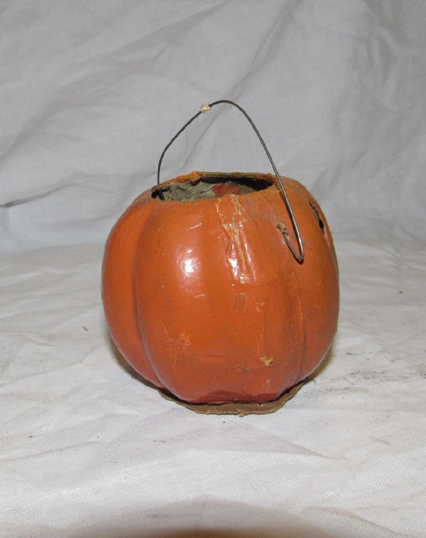 Antique Paper Mache Jack O Lantern Pumpkin - 2