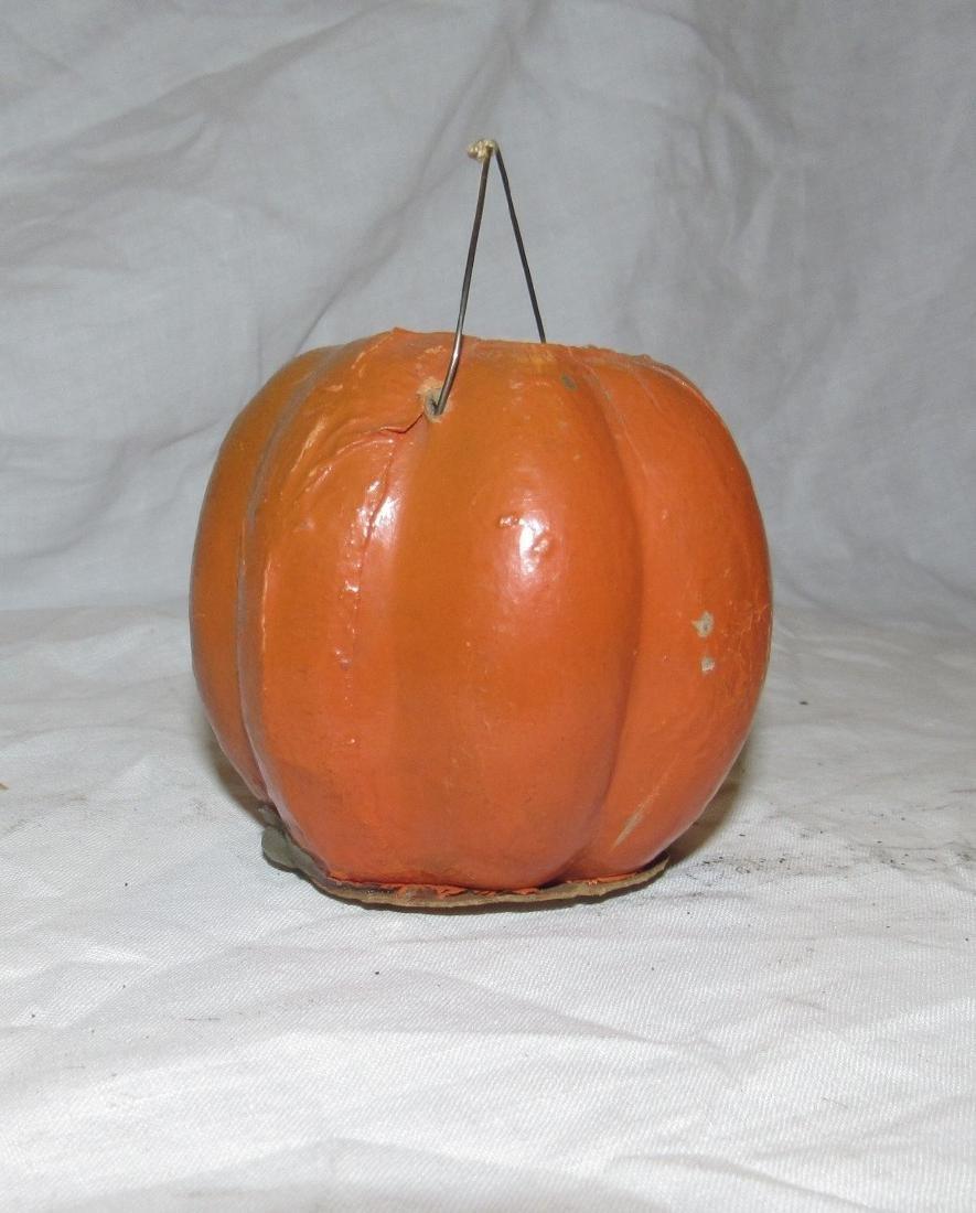 Antique Paper Mache Jack O Lantern Pumpkin - 3