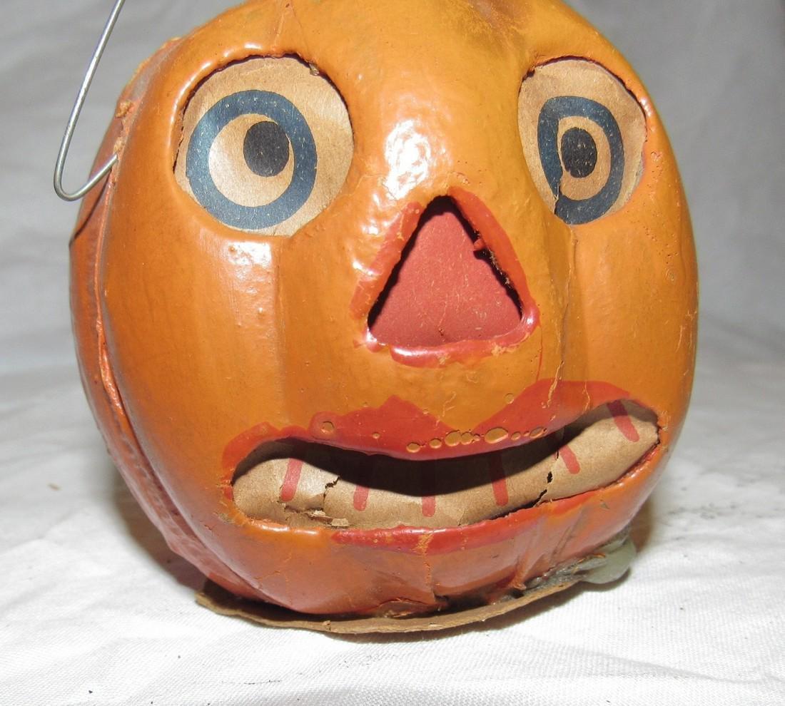 Antique Paper Mache Jack O Lantern Pumpkin - 5