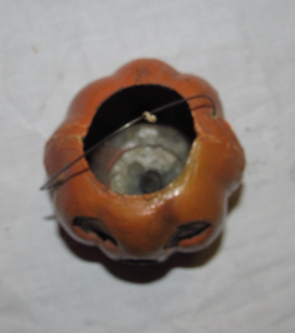 Antique Paper Mache Jack O Lantern Pumpkin - 6