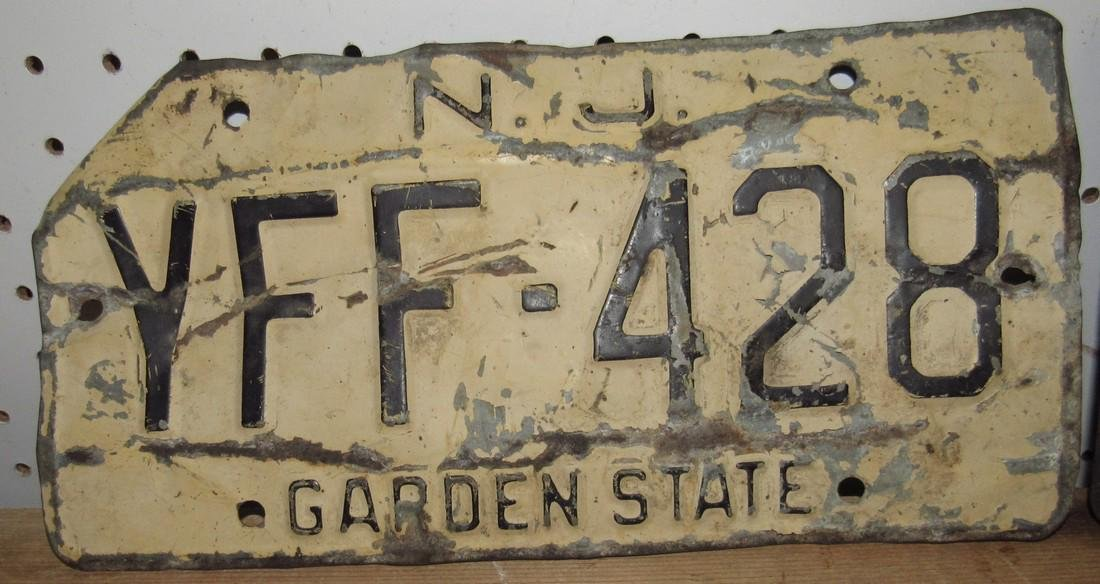 1957 NJ Farm Use License Plate - 3