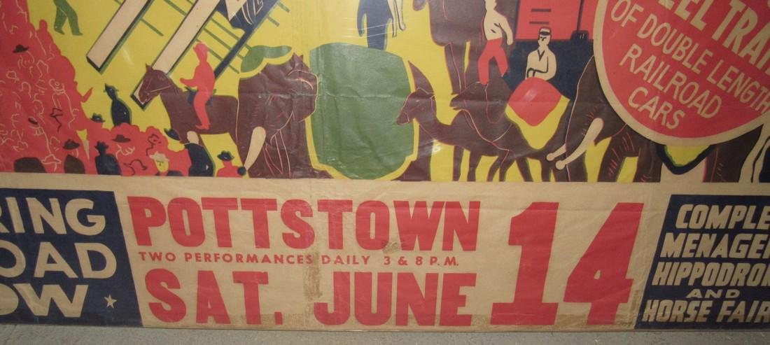"Dailey Bros 3 Ring Circus Poster Pottstown PA 33 1/2""X - 3"