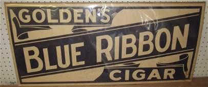 Goldens Blue Ribbon Cigar Paper Advertising Poster