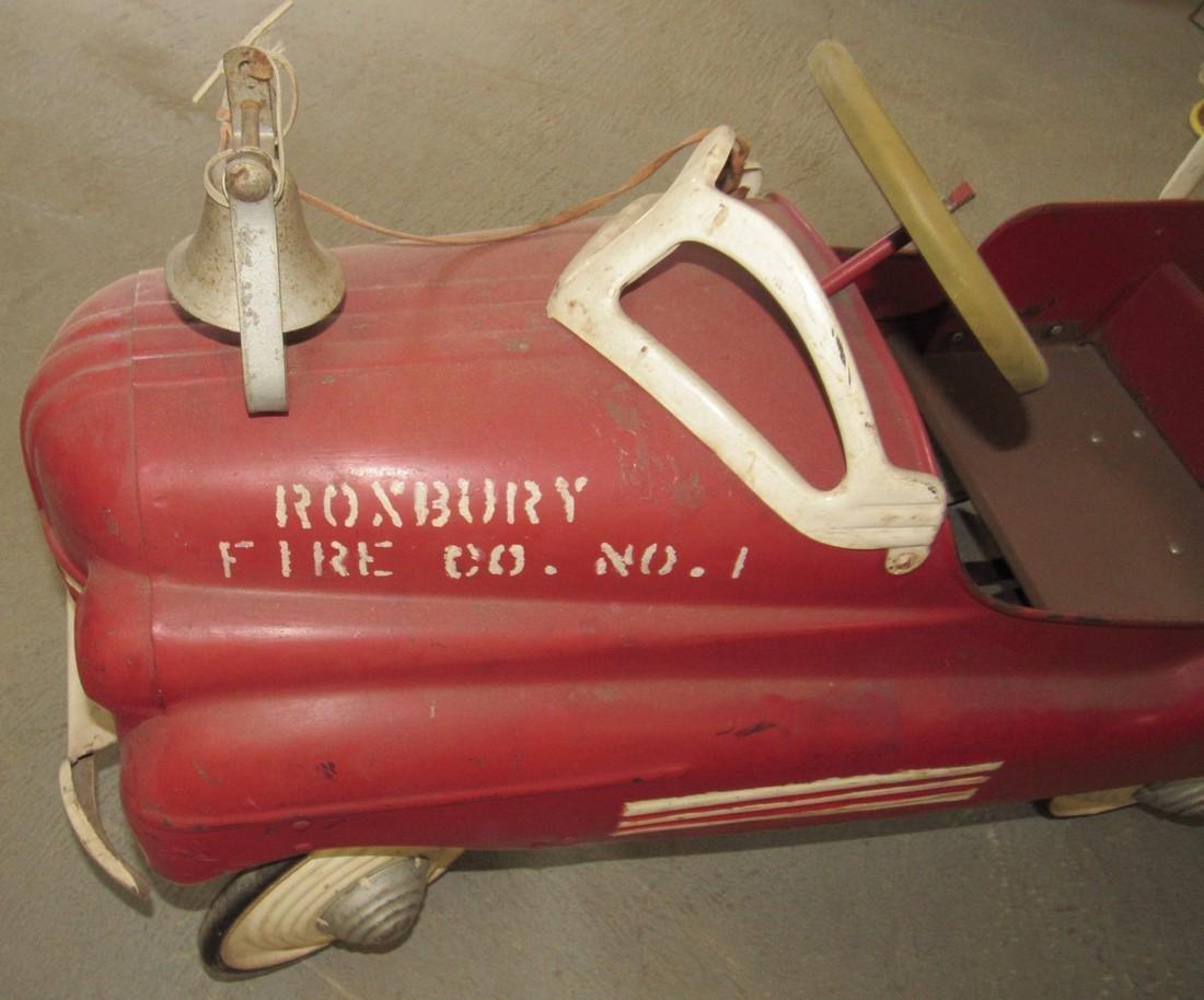 Firetruck Pedal Car Roxbury Fire Co - 4
