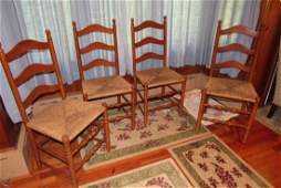 Set of 4 Ladder Back Chairs