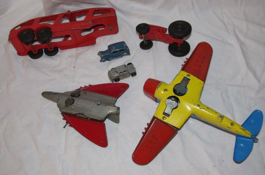 Hubley Airplanes Transport Trailer & Tootsietoy - 3