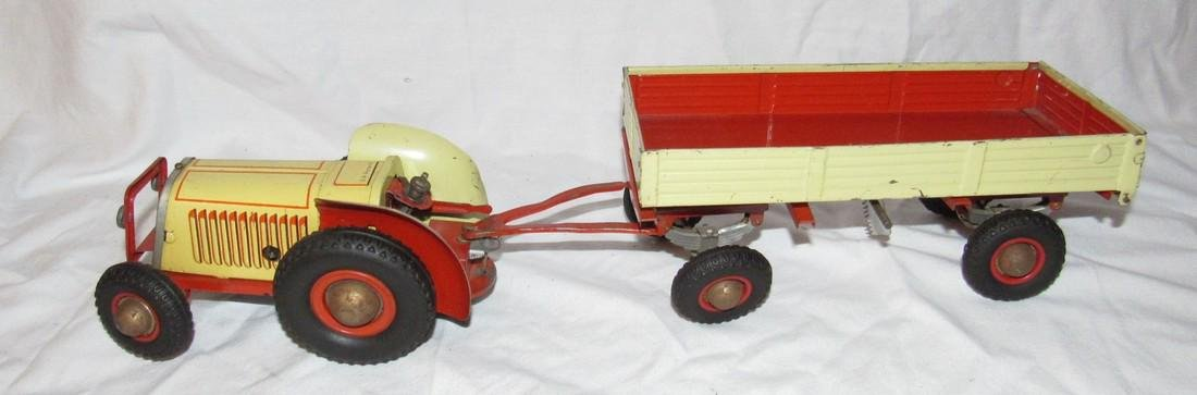 Wind Up Gescha Toy Tractor & Wagon - 2
