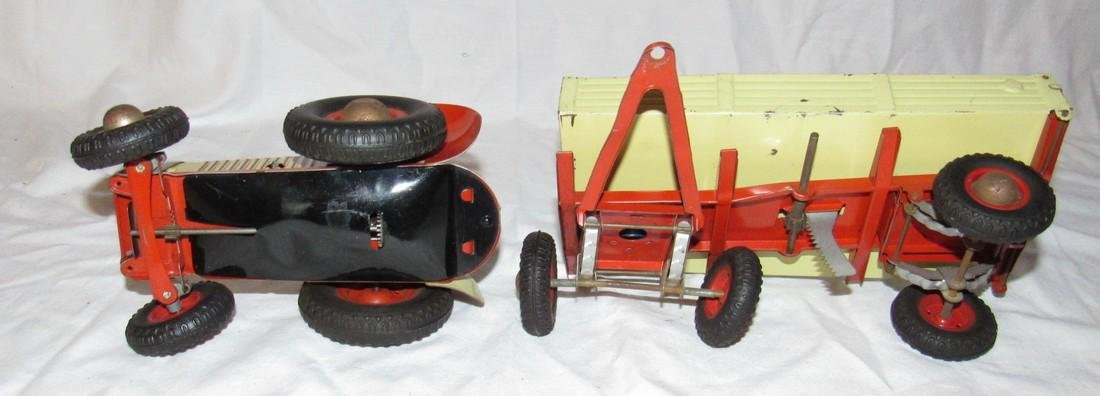 Wind Up Gescha Toy Tractor & Wagon - 5