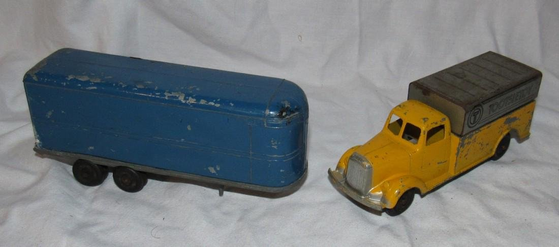 Tootsietoy Delivery Truck & Trailer