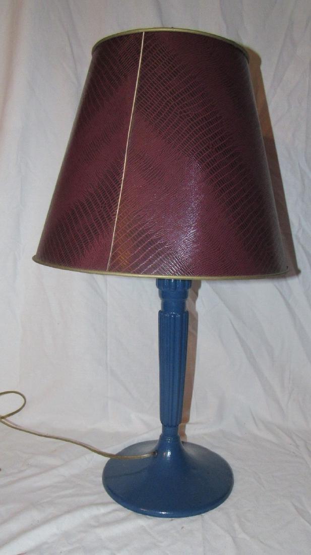 Blue Painted Pot Metal Lamp