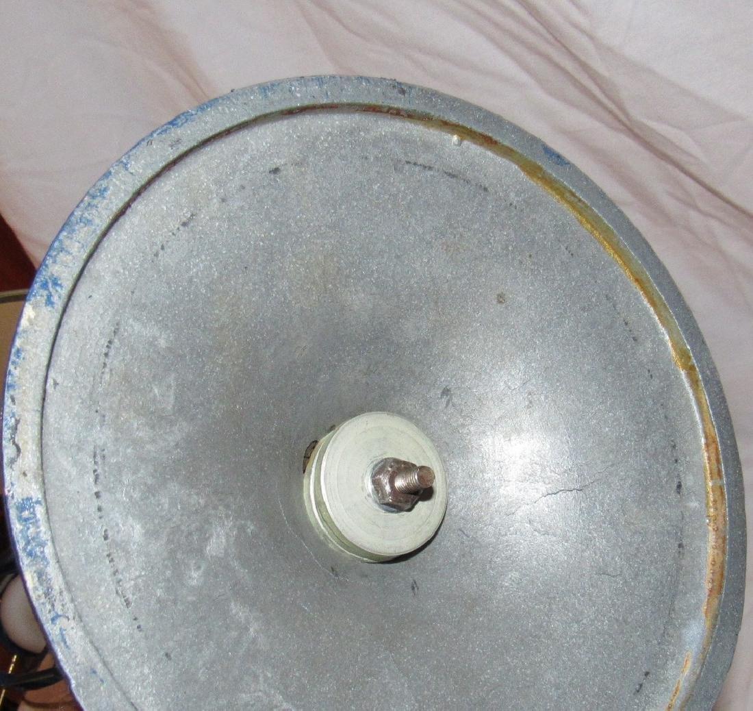 Blue Painted Pot Metal Lamp - 4