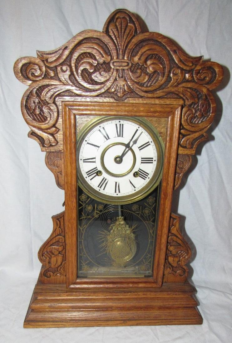 8 Day New Haven Ginger Bread Mantle Clock