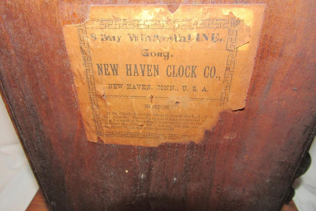 8 Day New Haven Ginger Bread Mantle Clock - 4