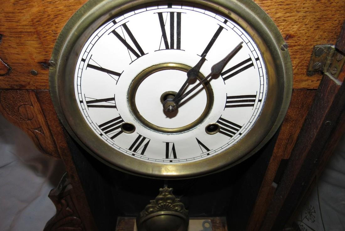8 Day New Haven Ginger Bread Mantle Clock - 6