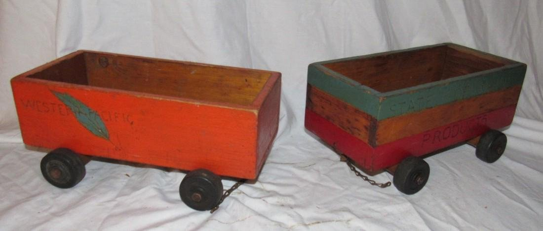 2 Wooden Pull Toys
