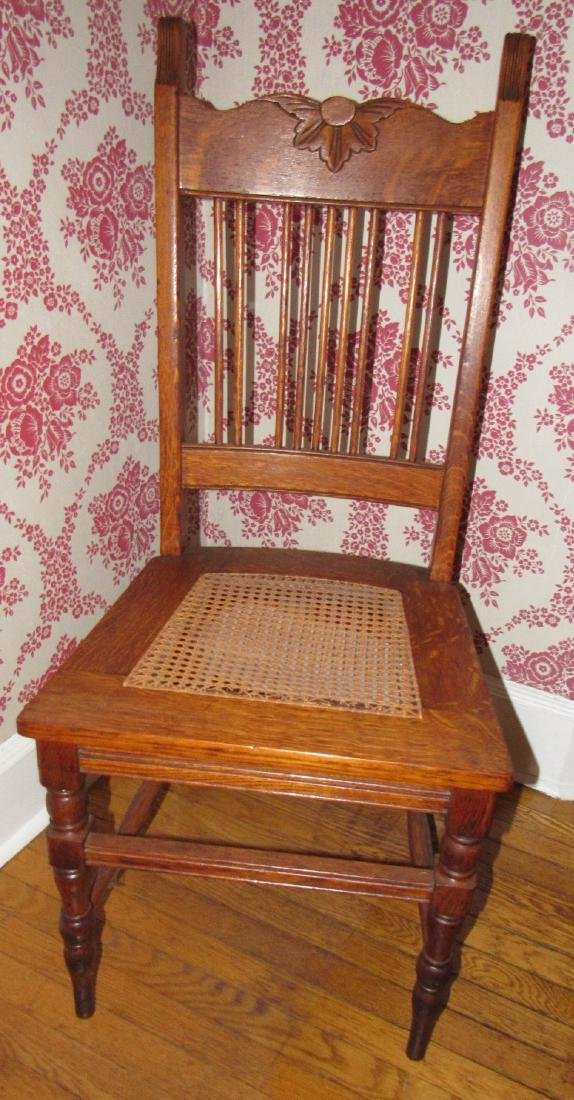 Oak Cane Seat Chair
