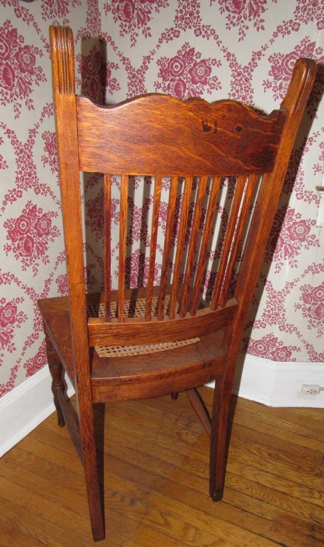 Oak Cane Seat Chair - 3