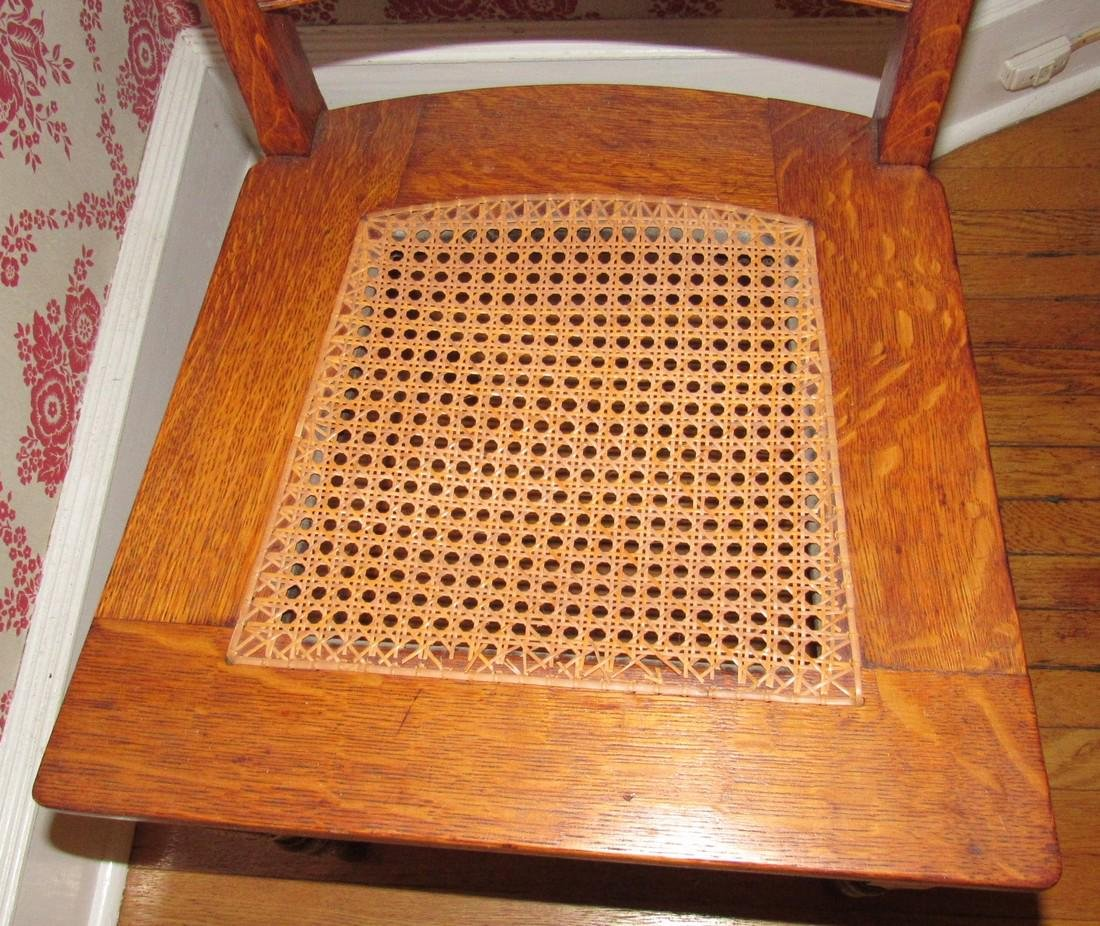Oak Cane Seat Chair - 4