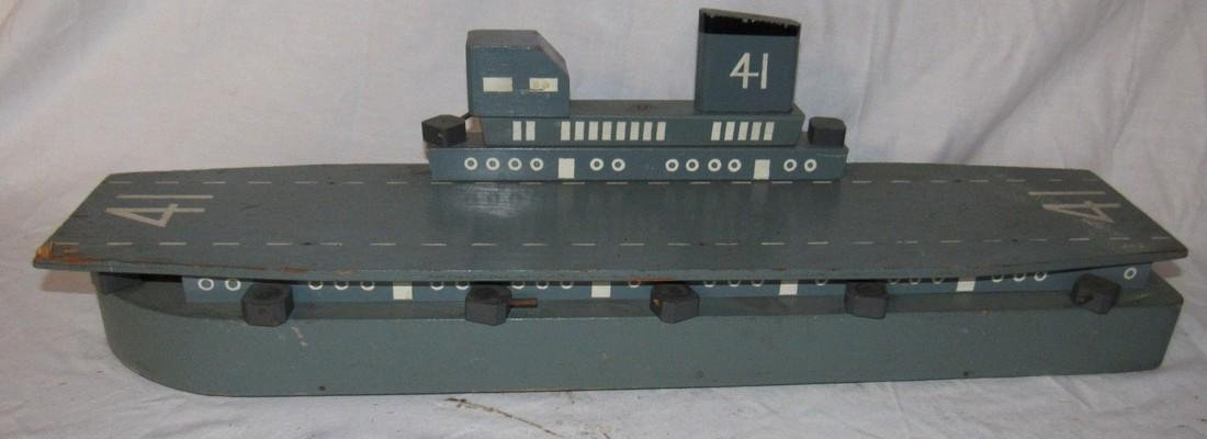 Wooden Air Craft Carrier Toy