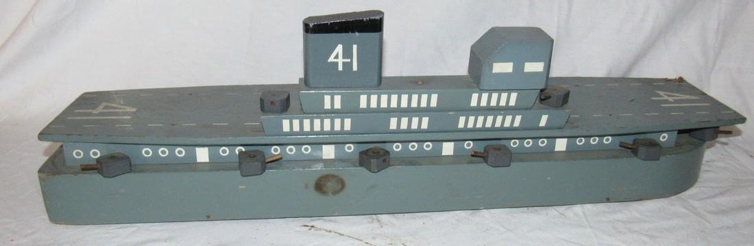 Wooden Air Craft Carrier Toy - 3