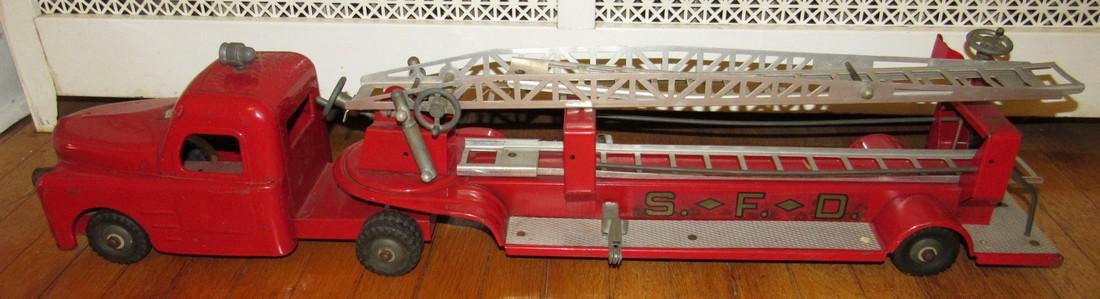 "Structo Fire Department Ladder Truck 33 1/2"" long"