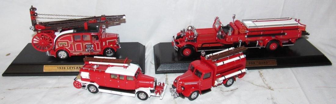 4 Matchbox Models of Yesteryear Toy Firetrucks