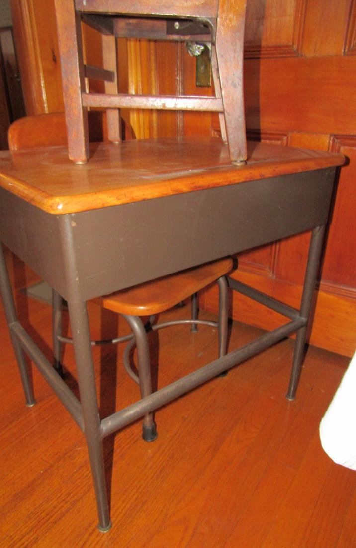 Childs School Desk & 2 Chairs - 3