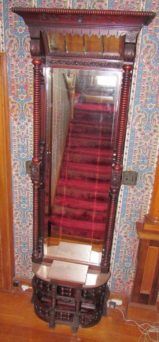 Victorian Walnut Pier Mirror