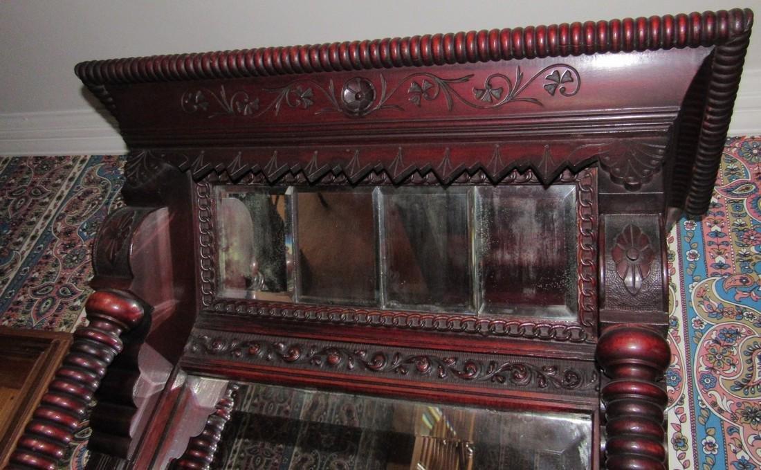 Victorian Walnut Pier Mirror - 4