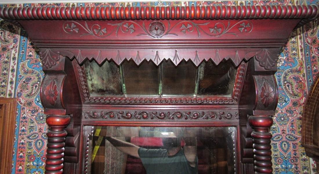 Victorian Walnut Pier Mirror - 5