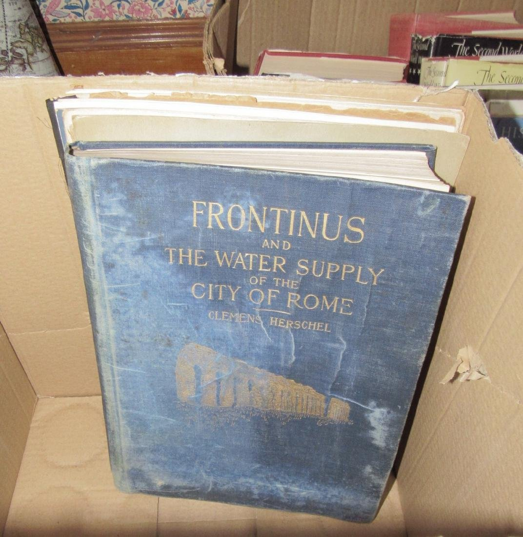 Lot of Misc Books Incl.  Rome Water Supply - 2