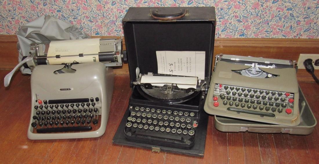 Lexicon 80 Remington & Anterex Parva Typewriters