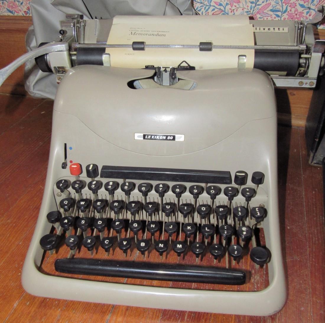 Lexicon 80 Remington & Anterex Parva Typewriters - 2