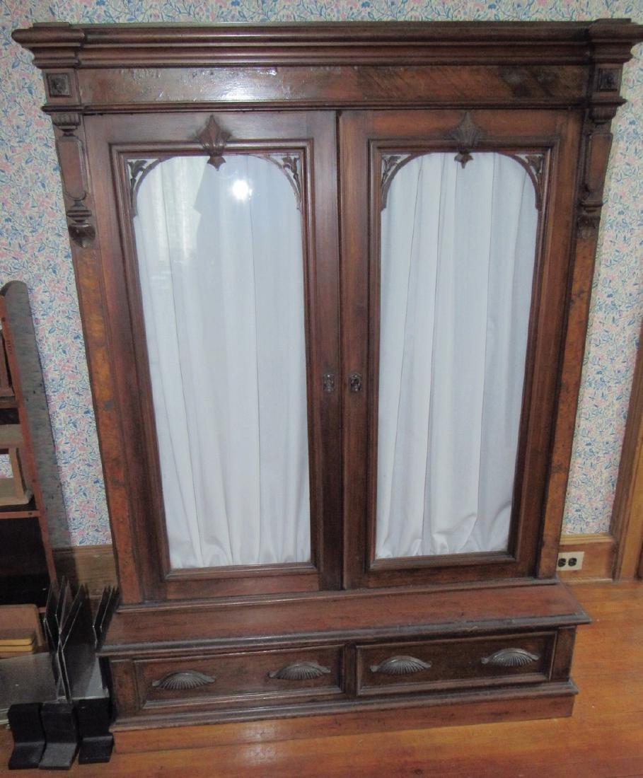 Victorian 2 Door 2 Drawer Bookcase