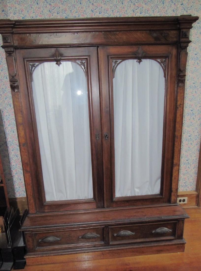 Victorian 2 Door 2 Drawer Bookcase - 2