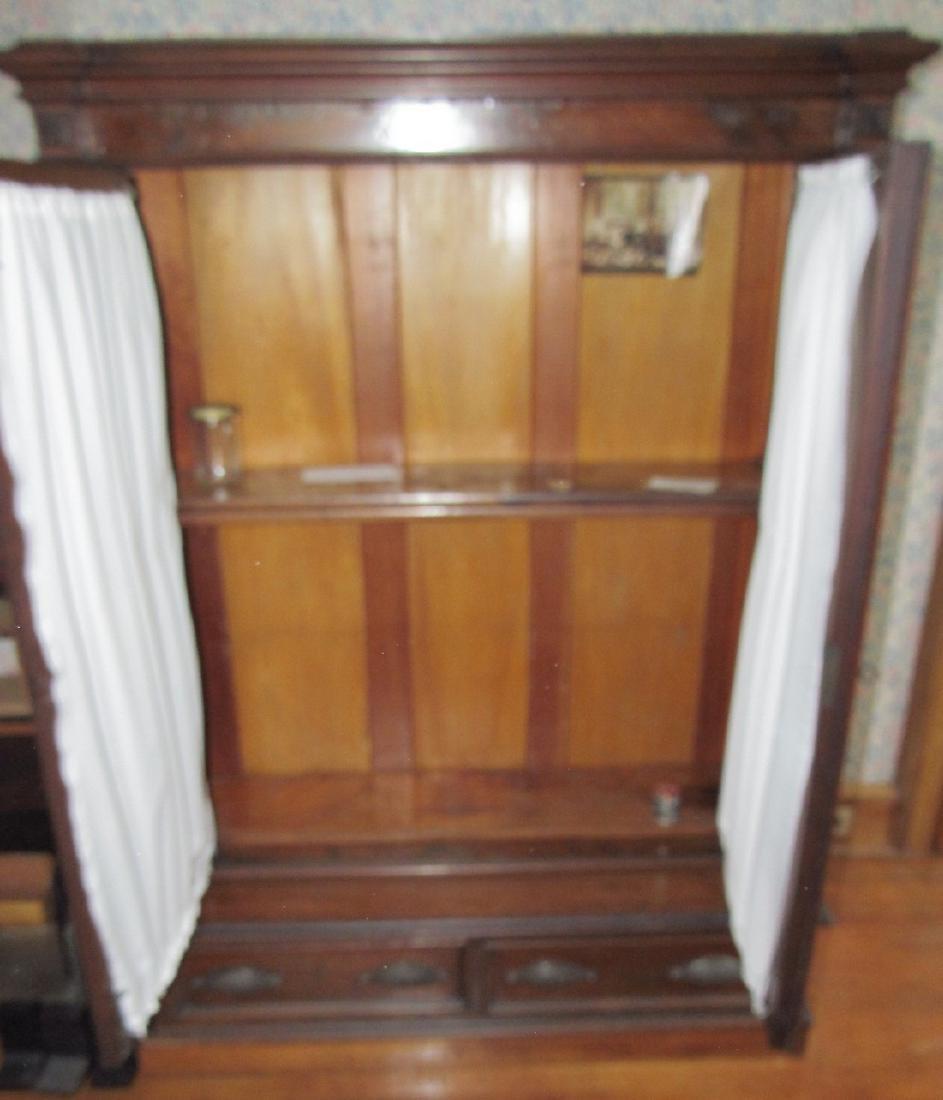 Victorian 2 Door 2 Drawer Bookcase - 4